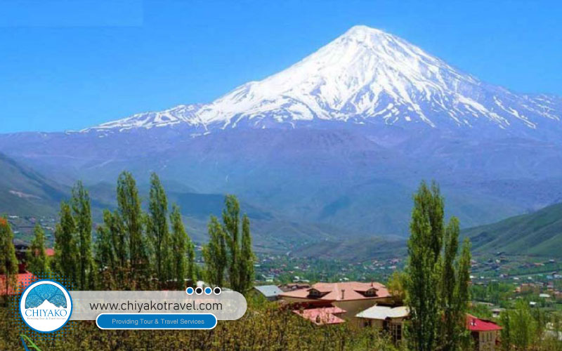 Damavand Mountain / highest peak in the middle east