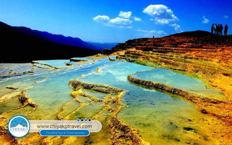 Badab-e Surt, colorful springs