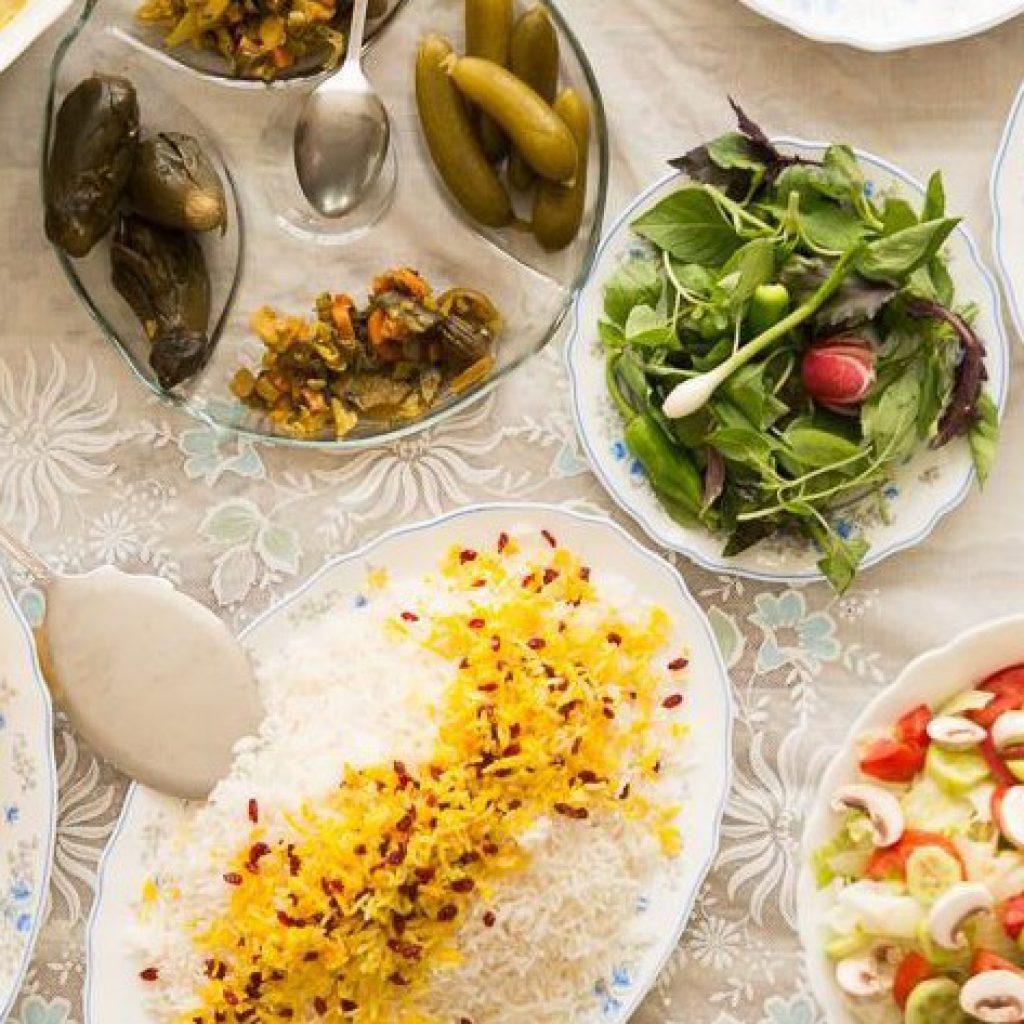 Persian family dinner