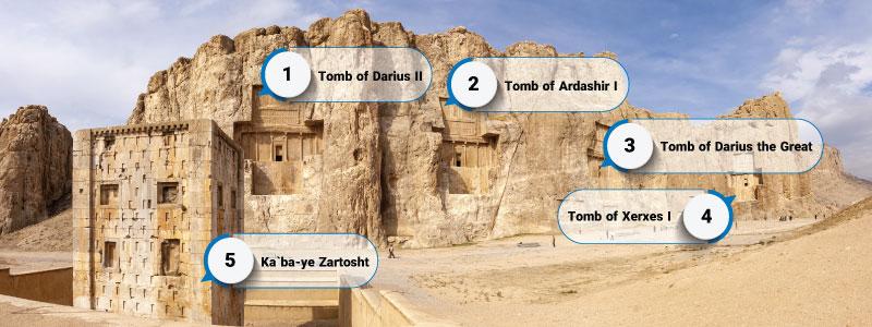 Naghsh-e Rostam infography
