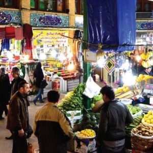Tajrish bazaar in Tehran city
