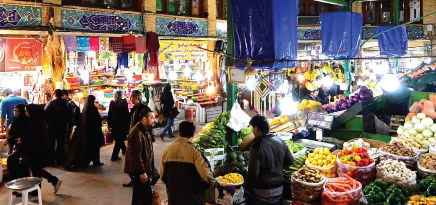 Tajrish bazaar in Tehran city
