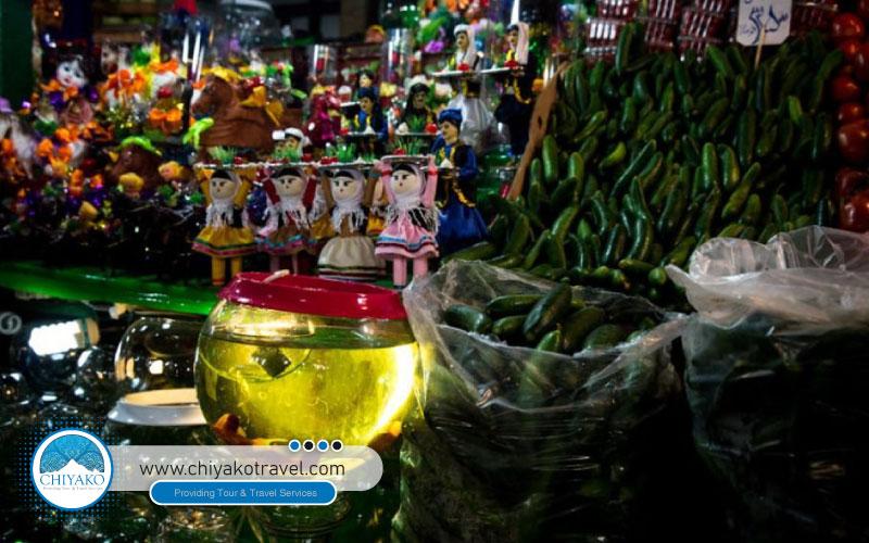 all kinds of products in Tajrish bazaar