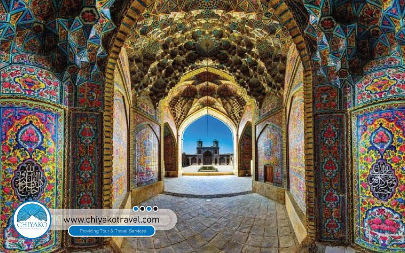 tiling in Nasir ol-Molk mosque