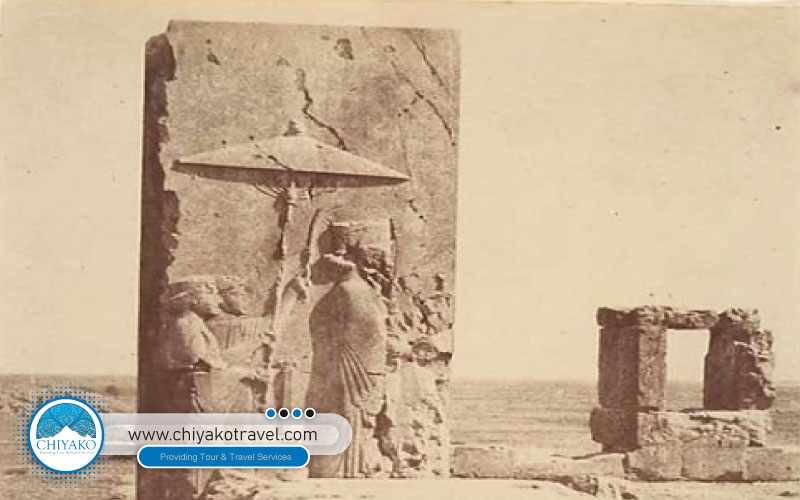 The first time the camera lens fell on Persepolis palace