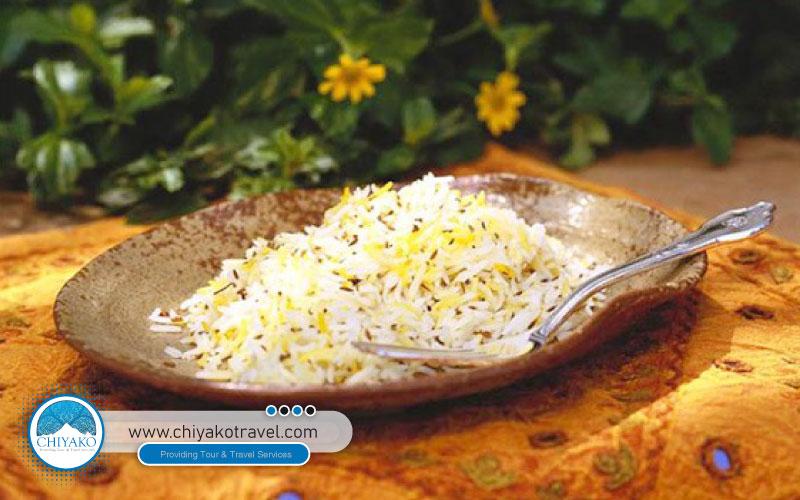 Kerman food Zireh polo
