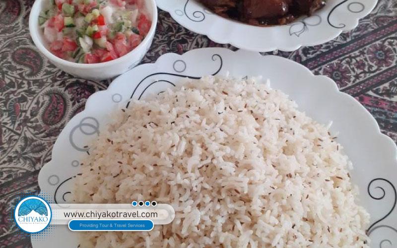 Zireh polo Kerman food